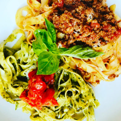 pesto pastas and bolognese pasta recipe