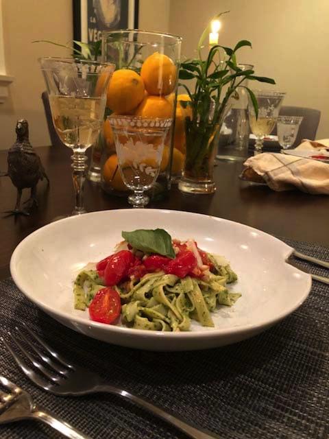 amazing pasta with pesto & mascapone