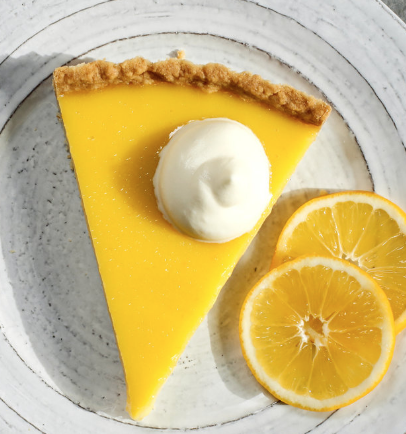 bright burst meyer lemon tart