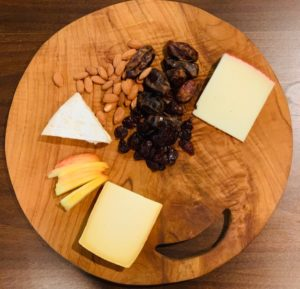 selection of cheeses for a cheese course