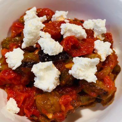 eggplant, tomato, ricotta cheese sauce