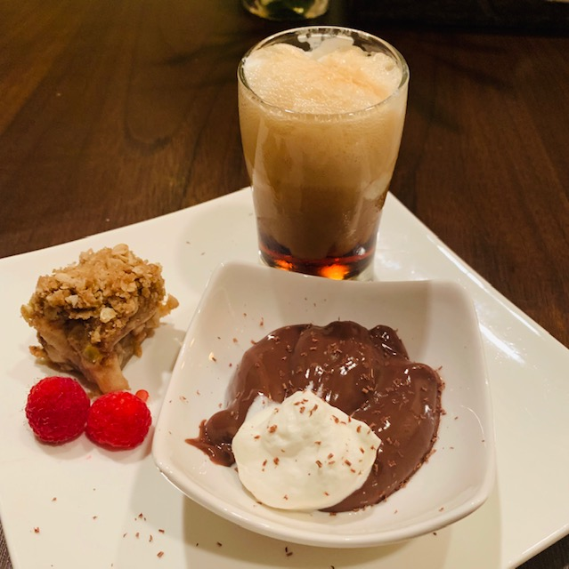 a trio of mini desserts- ode to the sweet tooth