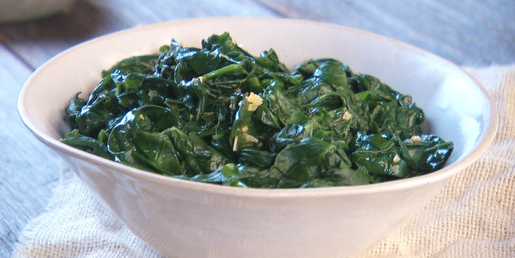 spinach with garlic and olive oil