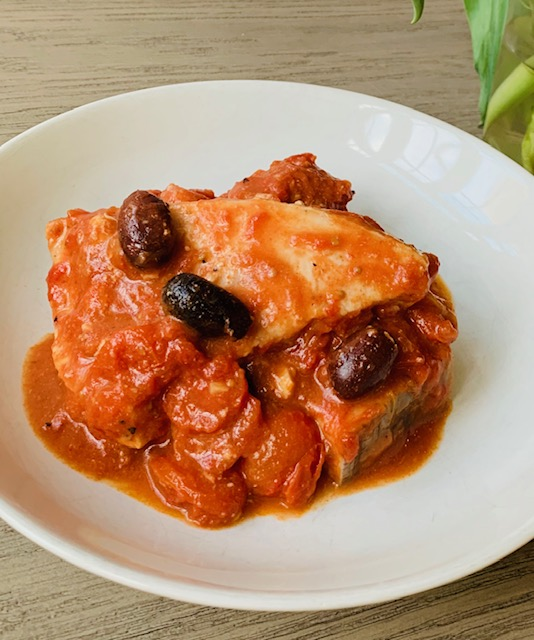 swordfish with tomatoes & olives