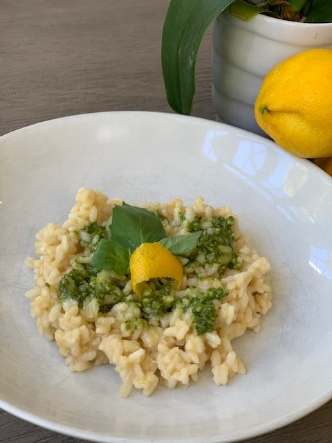 lemon risotto with pestp