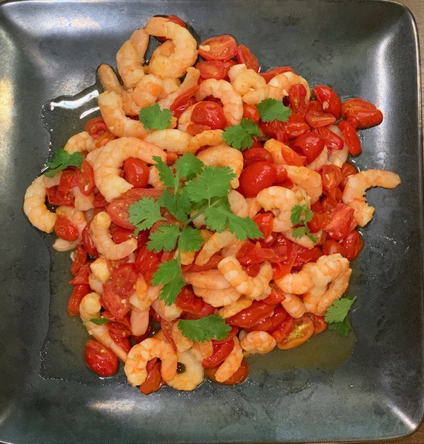 Prawns with fresh tomatoes
