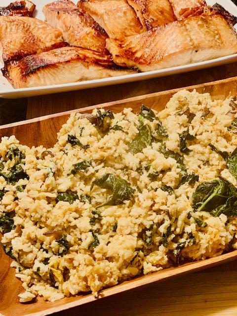 Kale and mushroom stir fry