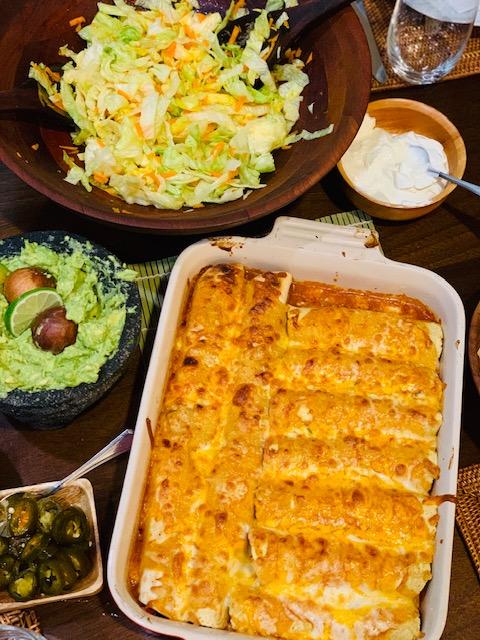 Cauliflower and Black Beans Enchiladas