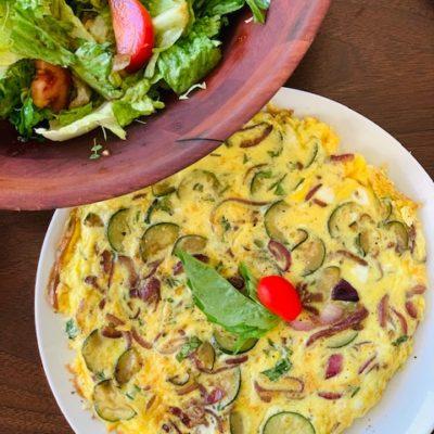 zucchini and mushroom frittata