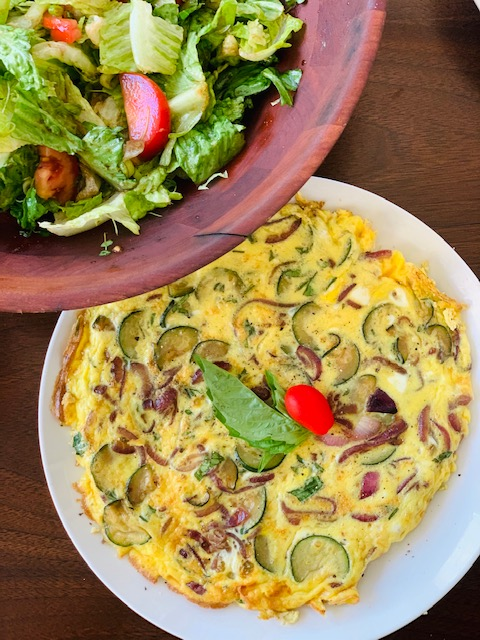 frittata with zucchini and mushrooms