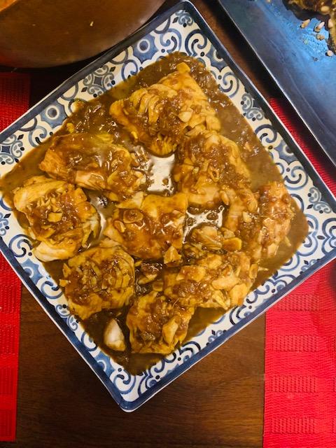 cod in tamarind, cilantro and fenugreek sauce