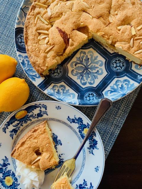 lemon almond butter cake