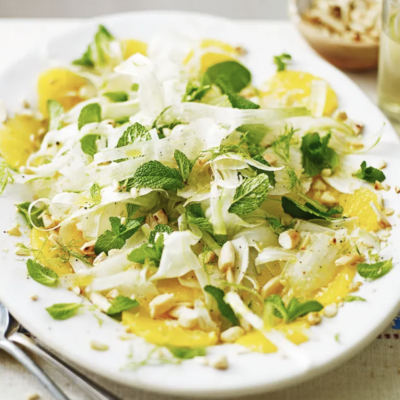 fennel orange almond salad