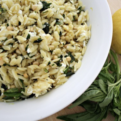 orzo with basil and lemon