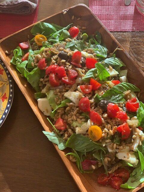 An Italian vegetable Farro salad (insalata di Farro)