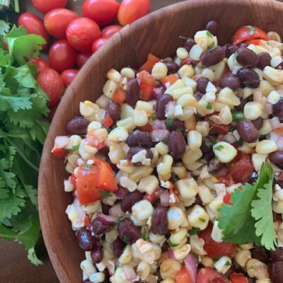 corn and black bean salad with lime