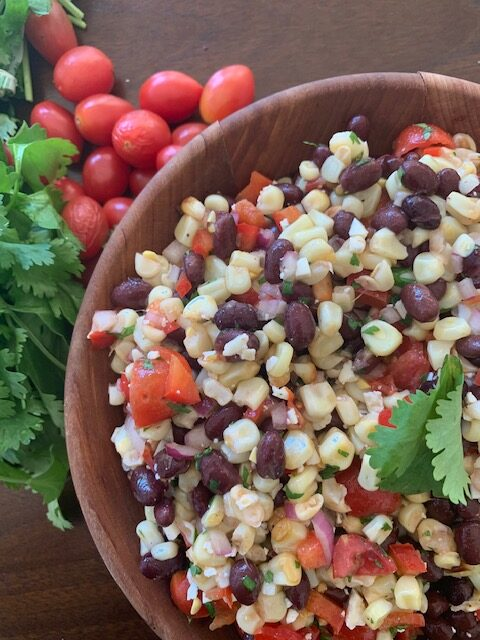 Black bean & corn salad with fresh lime