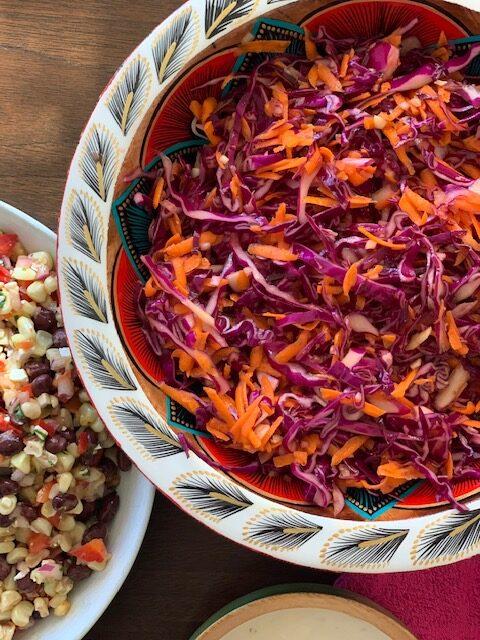 Lime & orange red cabbage salad